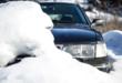 Auto im Schnee 110x75 - Kfz-Schutzdecke – den Mehrwert des Fahrzeugs langfristig erhalten